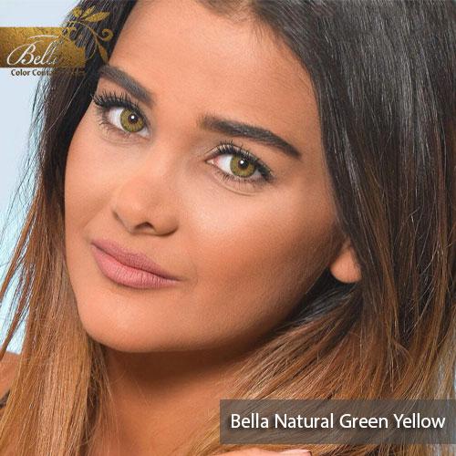 خرید لنز بلا نچرال رنگ گرین یلو Green Yellow